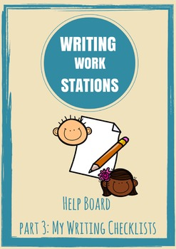 FREE!! Writing Work Station Part 3 - Writing Checklists