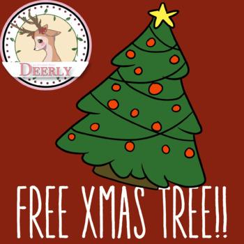 FREE XMAS TREE! (Deerly Clipart)