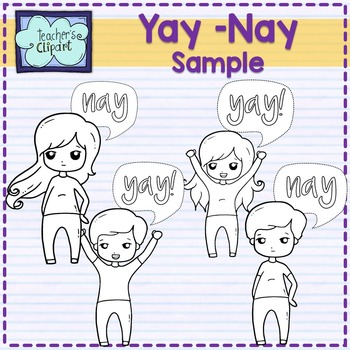 FREE Yay! or Nay Kids Clipart