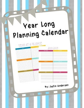 FREE Year at a Glance Calendar Printable