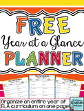 FREE Year at a Glance Planning Template