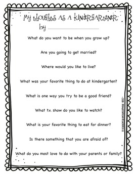 FREE Yearbook Questionnaire Printable for Preschool and Kindergarten