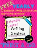 FREE Yearly Friendly Letter Writing Centers