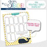FREE Yearly Snapshot - Printable Calendar
