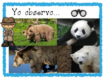FREE Yo observo/I Observe activity for any Animal Habitat Unit in SPA and ENG