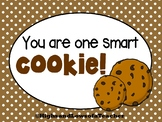 FREE You Are One Smart Cookie - Testing Motivation/Encouragement Note