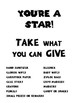 "FREE!! ""You're a Star"" Classroom Donation Board"