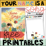 FREE Your Name is a Song Printables