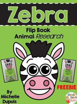 FREE Zebra Flip Book - Animal Research