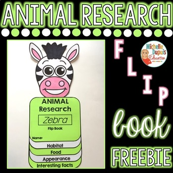 FREE Zebra Flip Book - Animal Research