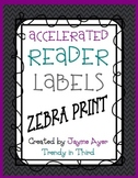 FREE Zebra Print Accelerated Reader Labels
