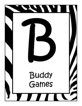 FREE Zebra Print Theme BUILD Math Center/Station Signs