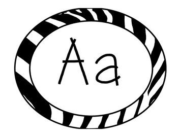 FREE Zebra Theme Word Wall Alphabet