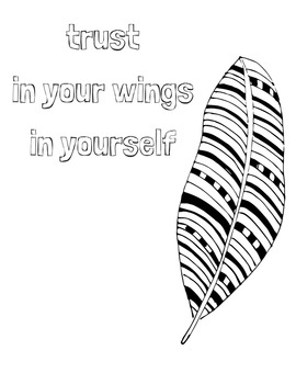 FREE Zentangle Coloring Page: Positive Affirmation Activity