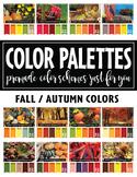 FREE Zippy Color Palette Catalog FALL / AUTUMN {Zip-A-Dee-Doo-Dah Designs}