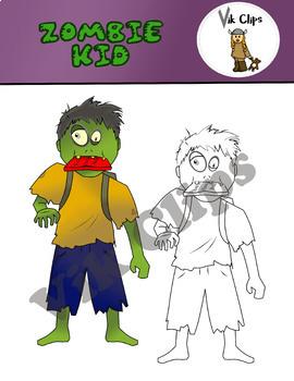 FREE Zombie Kid Clip Art