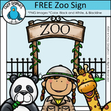 FREE Zoo Sign Clip Art - Chirp Graphics