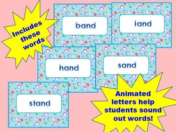FREE  _and Word Family PowerPoint for K, 1st, or 2nd (Common Core!)