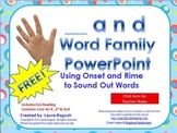 FREE  _and Word Family PowerPoint for K, 1st, or 2nd (Comm
