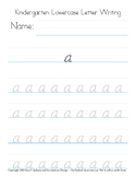 FREE a-g lowercase alphabet montessori handwriting practice