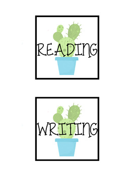 FREE and EDITABLE Cactus Labels