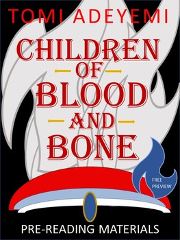 FREE and Editable: Children of Blood and Bone: Pre-Reading Activities