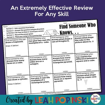 Test Preparation - Review Any Skills - Interactive - Find Someone Who...