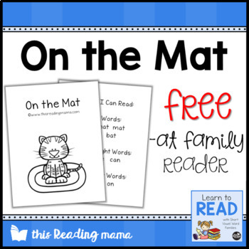 FREE -at Word Family Reader (On the Mat)
