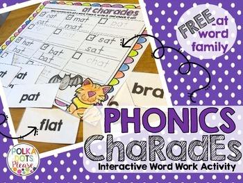 FREE at word family Phonics Charades