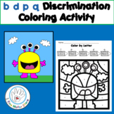 FREE b d p q Discrimination Coloring Activity to Help Lett