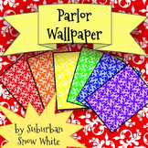 FREE backgrounds: Parlor Wallpaper in 6 colors