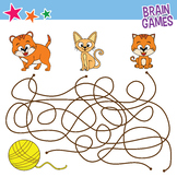 FREE! brain games for kids, cats finding stuff