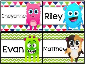 FREE class dojo editable name plates