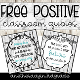 classroom quotes FREEBIE