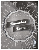 FREE black and white Ramadan informative bulletin board