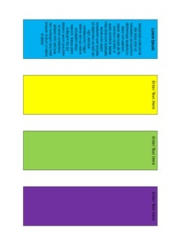 FREE : create Student bookmarks for reading, literacy, etc.