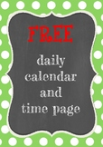 FREE daily calendar and time page