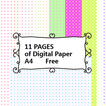 FREE digital paper-11pages-polkadot a4 paper