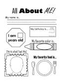 FREE download - All About Me Ice-Breaker Worksheet - Kindergarten, 1st Grade