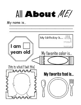 FREE download - All About Me Ice-Breaker Worksheet - Kindergarten ...