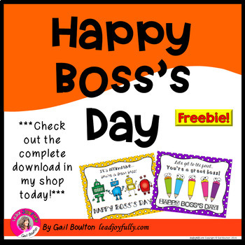"""FREE download! """"Happy Boss's Day!"""" (October 16, 2017)"""