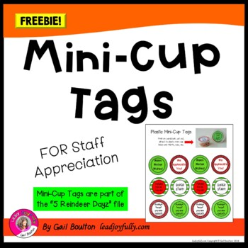 FREE download! Mini-Cup Tags for Staff Appreciation
