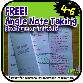FREE Angles Note Taking Brochure or Trifold