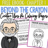 FREE eBook: BEYOND THE CRAYON - Dr. Seuss Postcard + Coloring Page
