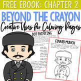 FREE eBook: CHAPTER 2 - Edvard Munch Dot Painting + Coloring Page