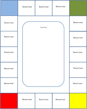 FREE easy to make WORD board game templates