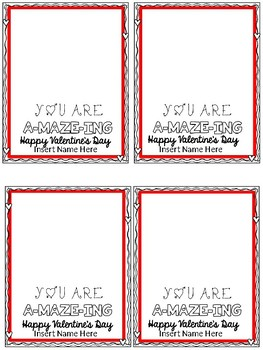 FREE (editable) Valentine'g Gift Tag