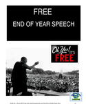 FREE end of year speech for Secondary teachers