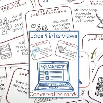"FREE envelope for ""Jobs & job interviews - conversation cards"""