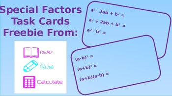 FREE exit ticket for special binomial multiplication